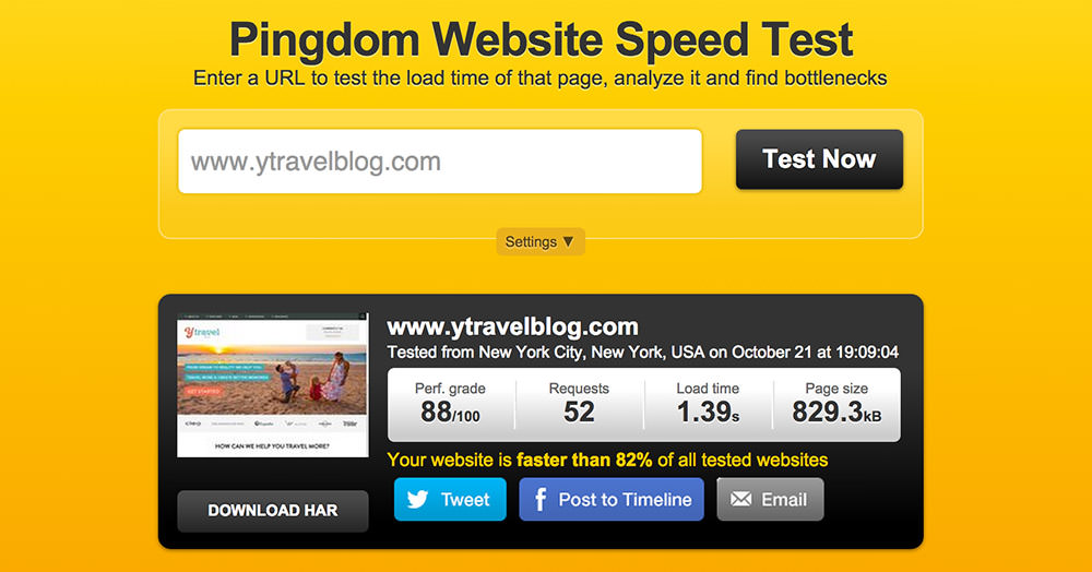 website-fast-load-time-ytravel